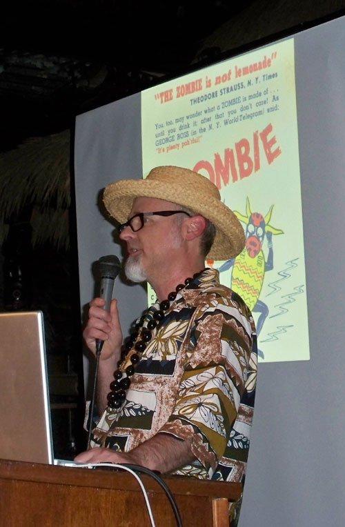 "Jeff ""Beachbum"" Berry teaches a graduate course on the Zombie"