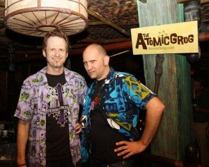 Atomic Grog team members Jim and Nik have their game faces on