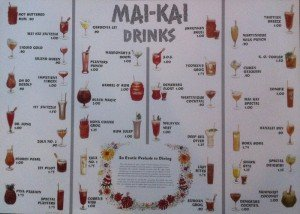 The Mai-Kai's original cocktail menu, circa 1957.