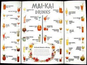 1959 Mai-Kai cocktail menu