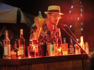Blair Frodelius makes his drink, The Powderkeg.