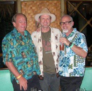 "Hurricane Hayward with rum expert Stephen Remsberg (left) and author Jeff ""Beachbum"" Berry"
