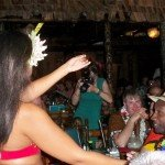 """Ian """"Rum Ambassador"""" Burrell enjoys the dance that comes with his Mystery Drink."""