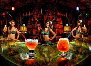 A recent photo of The Molokai Girls in the bar, which never seems to go out of style