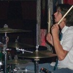 Jimmy Dale, drummer for both Dick Dale and Laramie Dean, at The Vagabond.