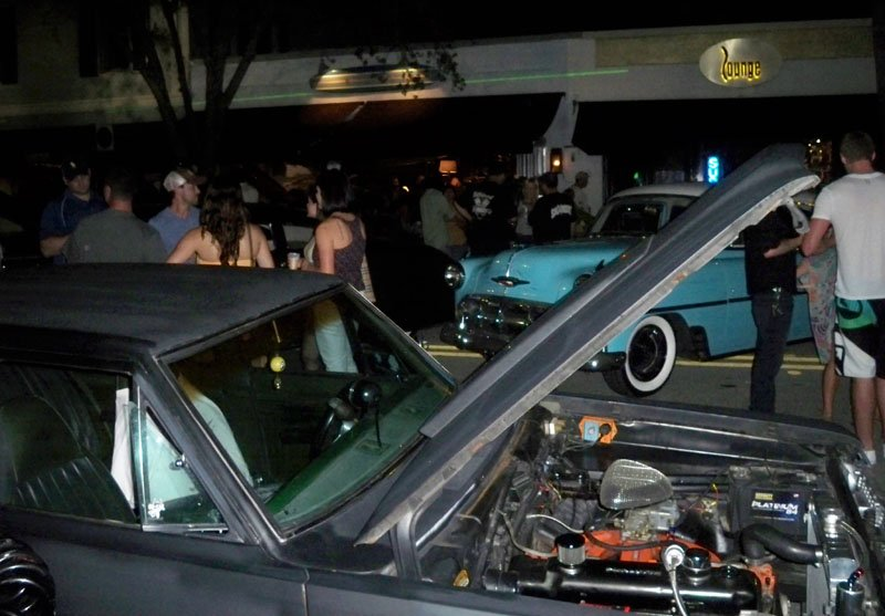 A classic car show took over the street in front of Longboards.