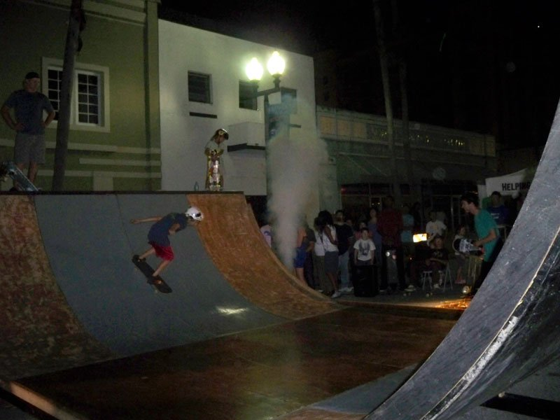 A skateboard demo was presented by Grind for Life.
