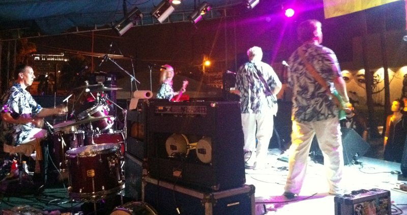 The Surfaris headlined the main stage to cap the evening. (Photo by Mike Jones)