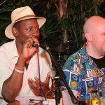 Judges Ian Burrell and Martin Cate discuss rum barrel mixology. (Photo by Go11Media.com)