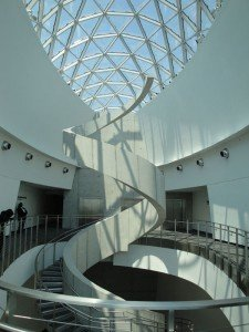 The 'Helical Staircase' in the Dalí Museum in St. Petersburg was inspired by the artist's fascination of spiral forms