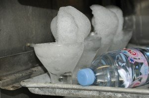 Ice shells are prepared and waiting in The Mai-Kai's back bar. (photo by Go11Events.com, June 2010)