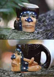 The Shrunken Skull mug, as seen in The Mai-Kai online store