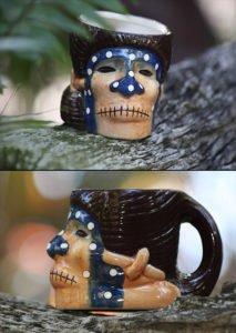 The Shrunken Skull mug, as seen in The Mai-Kai online store