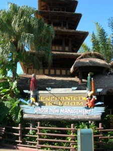 "The Enchanted Tiki Room at Walt Disney World's Magic Kingdom in November 2008, before a fire closed the ""Under New Management"" version of the attraction. (Photo by Susan Hayward)"