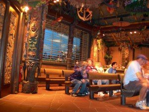 An inside view of The Enchanted Tiki Room at Walt Disney World's Magic Kingdom in October 2009. (Photo by Jim Hayward)