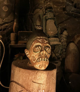 A Shrunken Head mug created for The Hukilau 2017 by Tiki Tony and Eekum Bookum in tribute to the South Seas artifacts on display at The Mai-Kai. (TikiTony.com)
