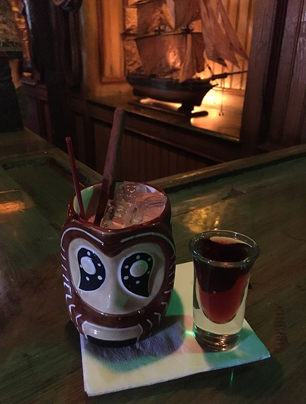 A timeless cocktail: The Shrunken Skull at The Mai-Kai, August 2018. (Photo by Hurricane Hayward)