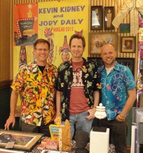 Hurricane Hayward meets Kevin Kidney and Jody Daily at Hukilau 2011 in Fort Lauderdale. (Photo by Susan Hayward)