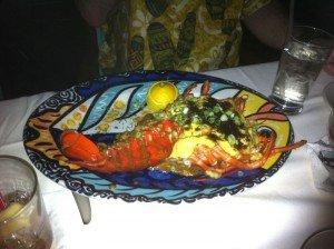 Lobster Bora Bora, June 2011. (Photo by Susan Hayward)