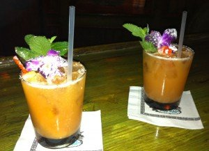 Two Mai Tais are better than one. (Photo by Hurricane Hayward, November, 2010)