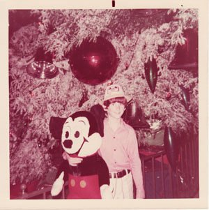The author with a friend at the Magic Kingdom at Walt Disney World, December 1972.