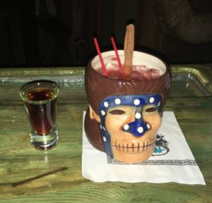 The Shrunken Skull served in the shrunken head mug in September 2016. (Photo by Hurricane Hayward)