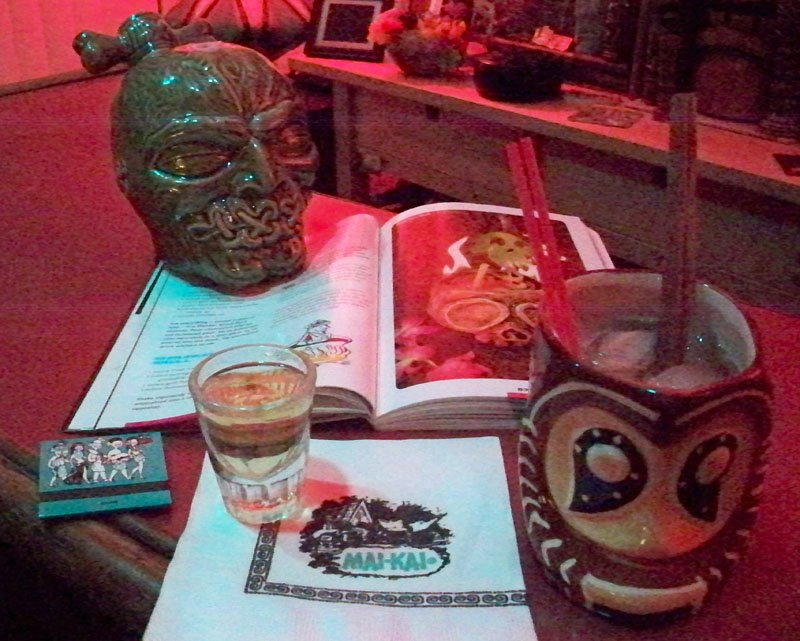 Beachbum Berry's Remixed, and the original Shrunken Skull tribute by The Atomic Grog featuring Bacardi 151. (Photo by Hurricane Hayward, July 2011)