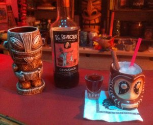 The Atomic Grog's Shrunken Skull tribute, featuring B.G. Reynolds cinnamon syrup. Mixologist Blair Reynolds features his version of The Mai-Kai's Shrunken Skull on the menu of his Portland Tiki bar, Hale Pele