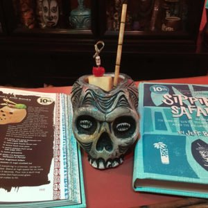 Skull & Bones by The Atomic Grog, March 2018. Skull mug by Tiki Diablo for Death Or Glory, Delray Beach, Fla. (Photo by Hurricane Hayward)