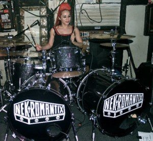 Lux performs with the Nekromantix at Churchill's in Miami on July 20, 2010. (Photo by Moe)