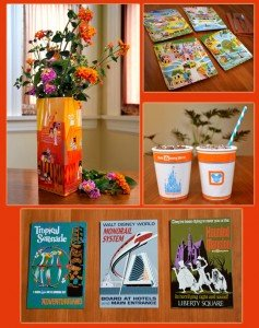 An assortment of Kevin Kidney and Jody Daily's gift items created for Disney World's 40th anniversary.