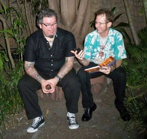 Hurricane Hayward interviews Pooch at The Mai-Kai, July 2011. (Photo by Susan Hayward)