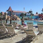 The spacious pool at the Caribbean Beach Resort. (Photo by Susan Hayward - Oct. 2, 2011)