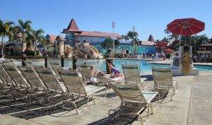 The spacious pool at the Caribbean Beach Resort. (Photo by Susan Hayward - Oct. 2, 2011)