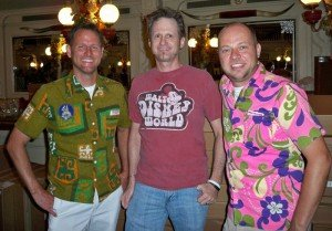 Hurricane Hayward meets up with acclaimed artists Kevin Kidney (left) and Jody Daily (right) at a signing event during Walt Disney World's 40th birthday festitivies. (Photo by Susan Hayward - Oct. 1, 2011)
