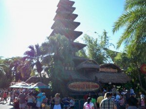 Walt Disney's Enchanted Tiki Room offers a respite from the blazing mid-day sun. (Photo by Hurricane Hayward - Oct. 1, 2011)
