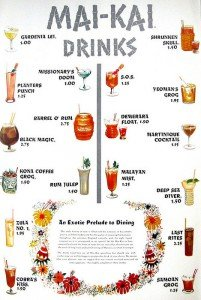 1959 Mai-Kai menu