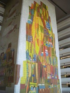 Disney's Contemporary Resort, opened in 1971, features iconic 90-foot-high tile mosaics by the late artist Mary Blair. (Photo by Hurricane Hayward - Oct. 1, 2011)