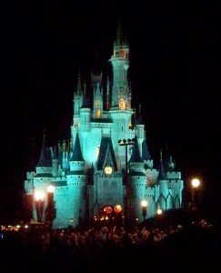 Massive crowds descend upon Cinderella Castle for the evening&#039;s special light and fireworks shows. (Photo by Hurricane Hayward - Oct. 1, 2011)