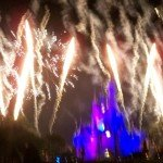 "The special 40th anniversary edition of Wishes featured fireworks set off around the Magic Kingdom's perimeter, resulting in a true ""nighttime spectacular."" (Photo by Hurricane Hayward - Oct. 1, 2011)"