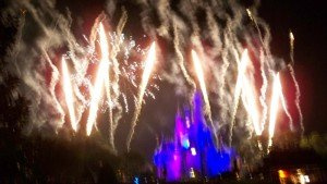 """The special 40th anniversary edition of Wishes featured fireworks set off around the Magic Kingdom's perimeter, resulting in a true """"nighttime spectacular."""" (Photo by Hurricane Hayward - Oct. 1, 2011)"""