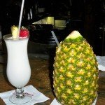 The perfect nightcap: A Piña Colada and Lapu Lapu in the Tambu Lounge at the Polynesian Resort. (Photo by Hurricane Hayward - Oct. 1, 2011)