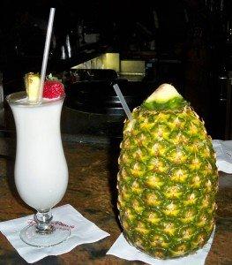The perfect nightcap: A Piña Colada and Lapu Lapu in the Tambu Lounge at the Polynesian Resort. (Photo by Hurricane Hayward - Oct. 1, 2011)