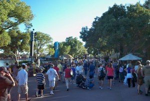 Crowds were constant but not too dense during the opening weekend of the Epcot Food and Wine Festival. (Photo by Hurricane Hayward)