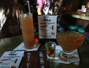 "Last Rites (left) was one of three ""lost cocktails"" featured at The Mai-Kai's 60th anniversary party on Dec. 28, 2016. (Photo by Hurricane Hayward)"