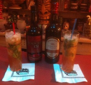 Comparing The Atomic Grog's Zombie tribute recipes using Lemon Hart 151 and Hamilton 151 rums from Guyana