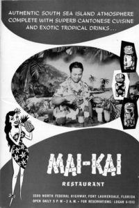 A 1958 ad for The Mai-Kai featuring Mariano Licudine