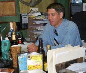Kern Mattei in his office at The Mai-Kai, July 2011. (Photo by Susan Hayward)
