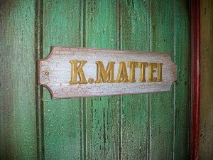 The door to Kern Mattei's office at The Mai-Kai. (Photo by Hurricane Hayward, July 2011)