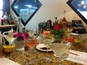 A cocktail sampling session at Kapow! (Photo from KapowNoodleBar.com)